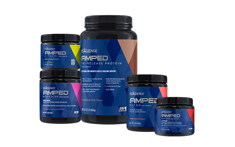 Isagenix AMPED Pre-Workout Products
